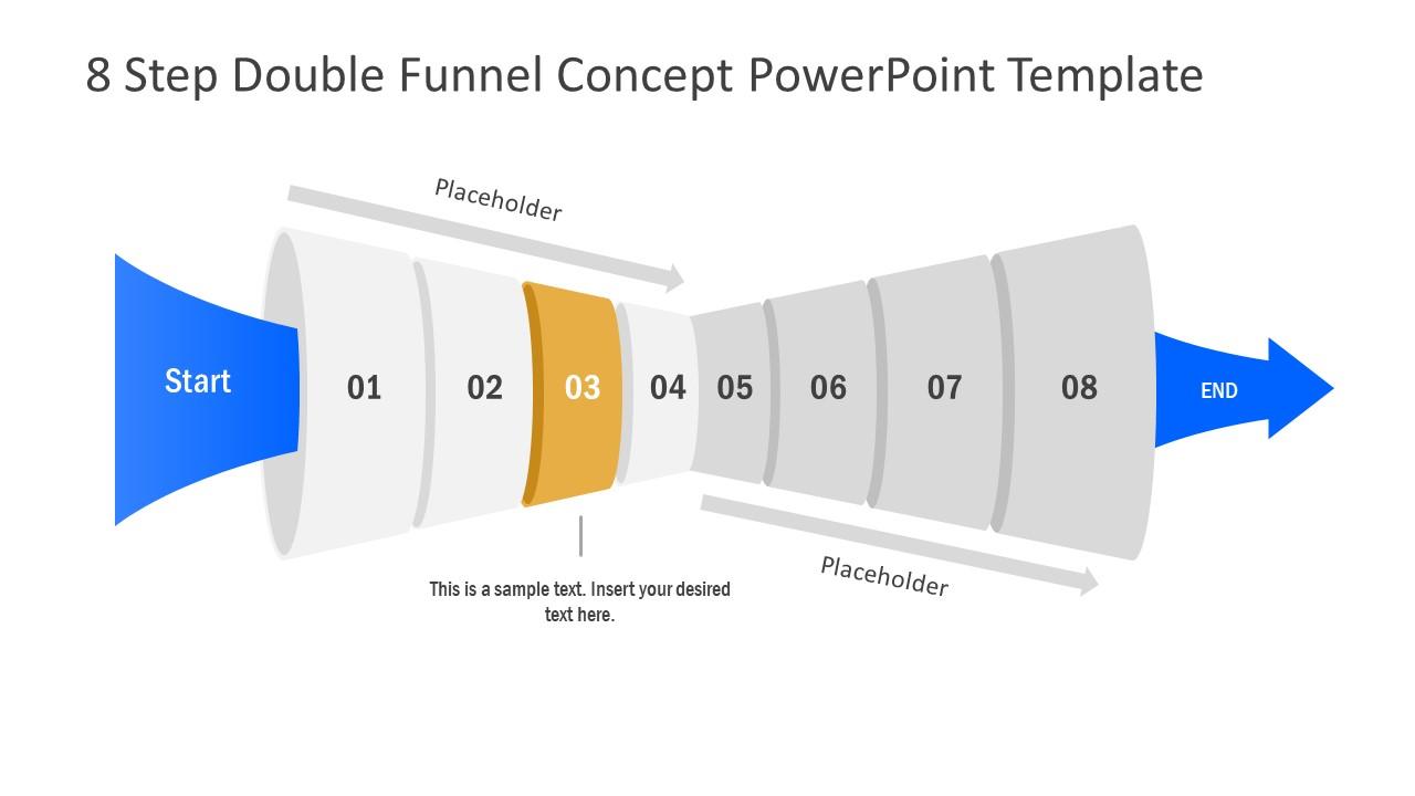 Funnel Diagram of 3 Step PPT