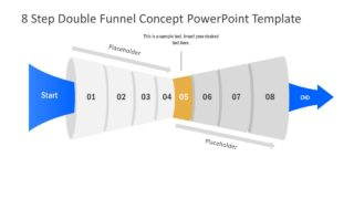 Funnel Diagram of 5 Step PPT