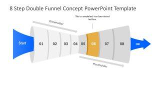 Funnel Diagram of 6 Step PPT