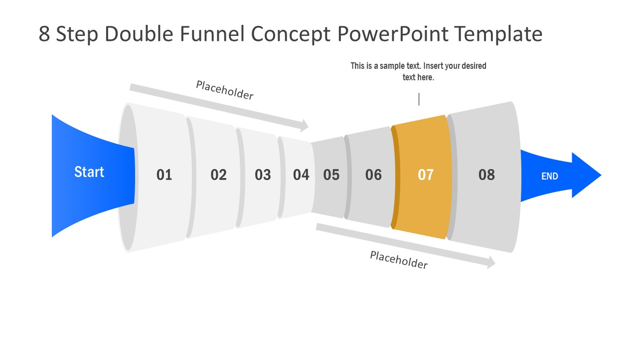 Funnel Diagram of 7 Step PPT