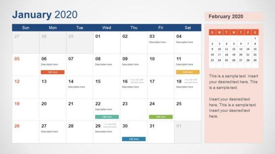 Planner Calendar Template from cdn2.slidemodel.com