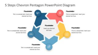 5 Steps Chevron Pentagon PowerPoint Diagram