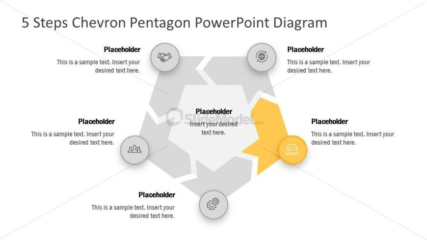 Chevron Arrow PowerPoint Pentagon