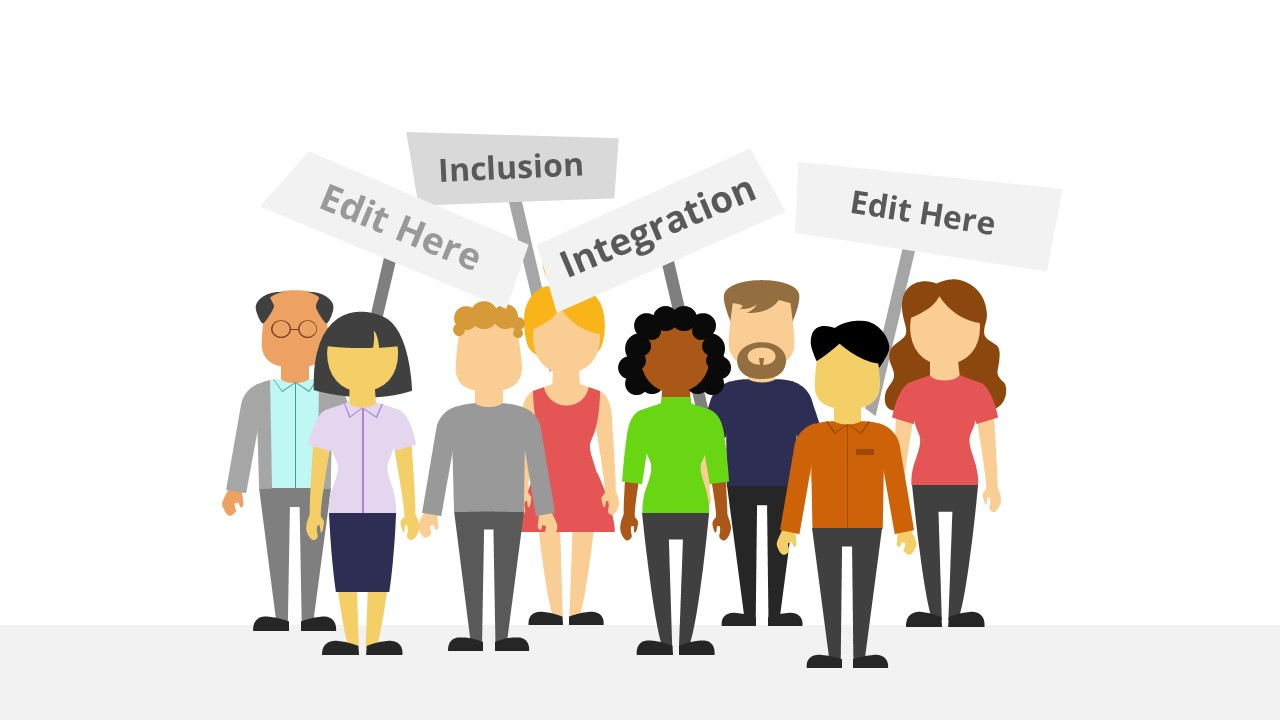 PowerPoint Diverse Group Protest