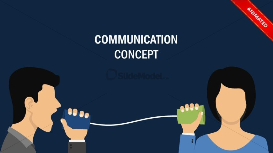 Presentation of Animated Communication Metaphor