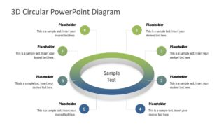 8 Steps Circular Ring PowerPoint Diagram