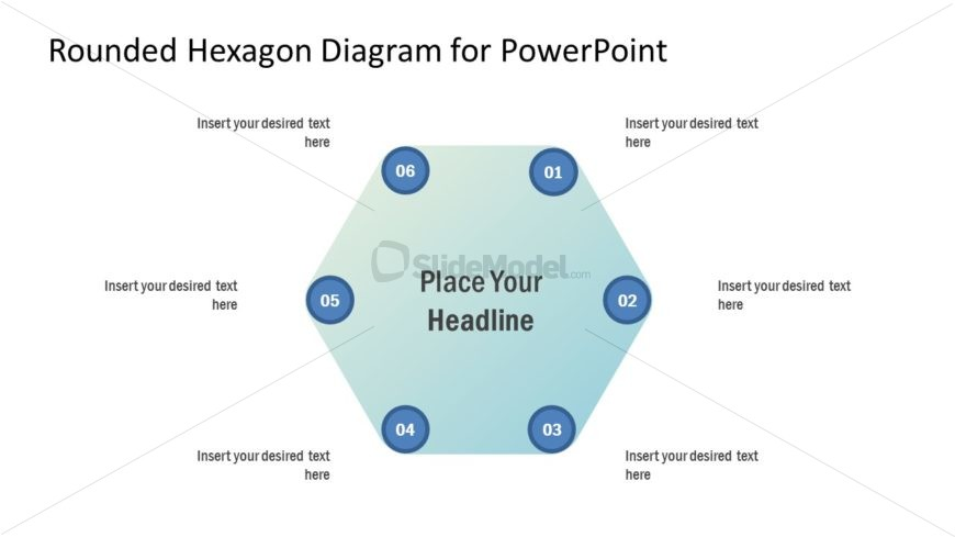 Presentation of 6 Steps Hexagon Diagram