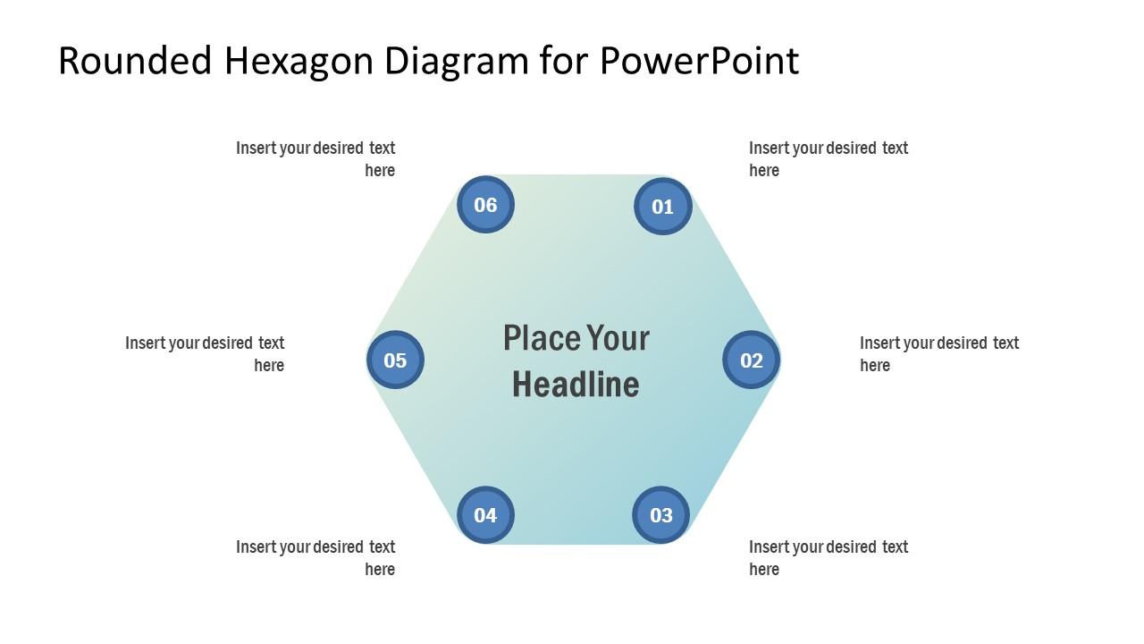 Presentation of 6 Steps Hexagon Diagram