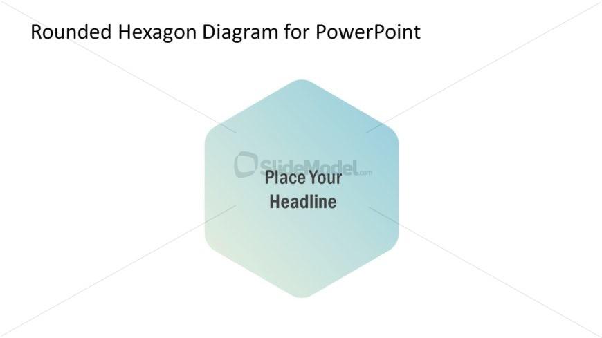 Gradient Hexagonal Diagram Template