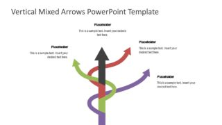 Business PowerPoint Curved Arrow Diagram