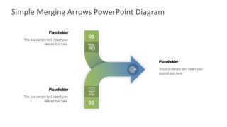 Simple Merging Arrows PowerPoint Diagram
