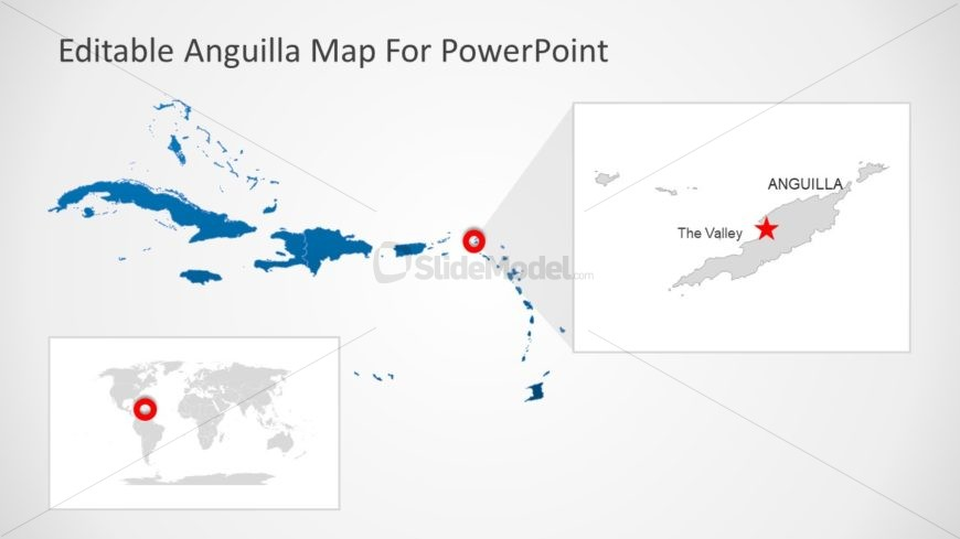 Silhouette Map Template of Country