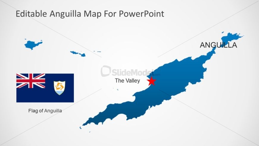 Silhouette Political Map PowerPoint