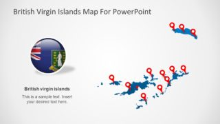 British Virgin Islands PowerPoint Map