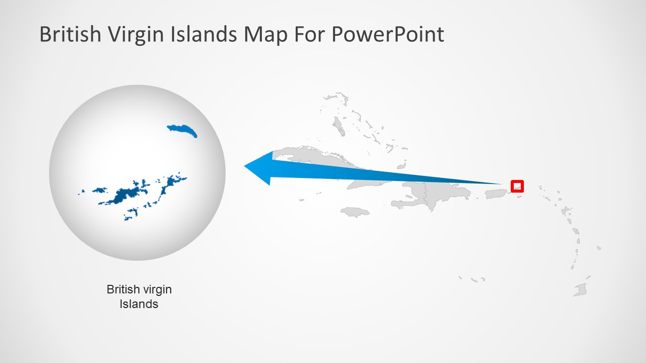 PowerPoint Map Template for Caribbean Sea