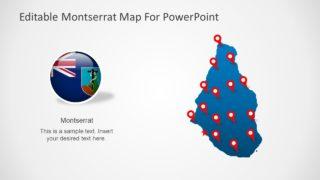 Montserrat PowerPoint Map