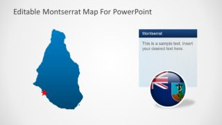 Blue Silhouette Map PPT