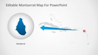 Slide of Montserrat Map Template