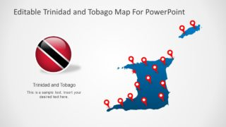 Outline Map of Trinidad and Tobago