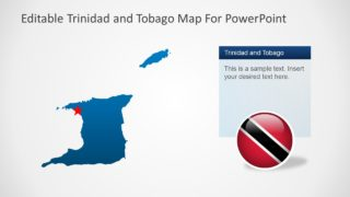 PowerPoint Map Template of Trinidad and Tobago