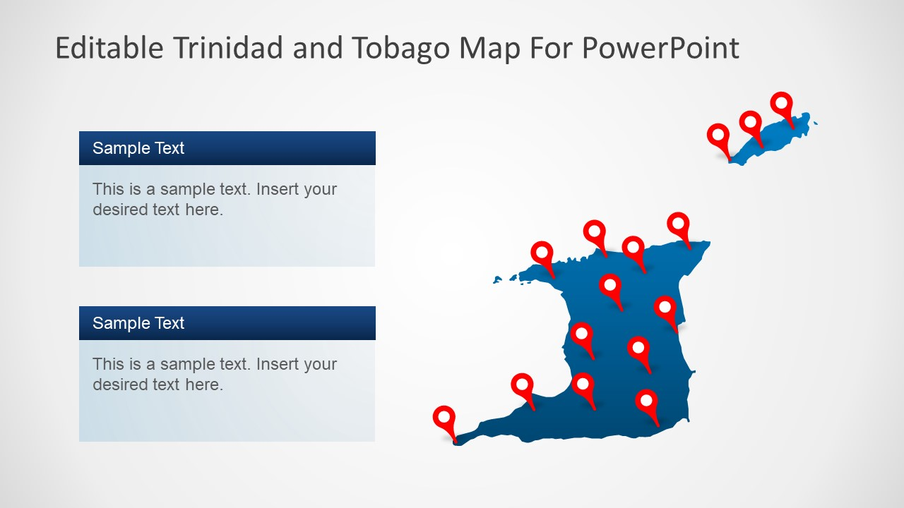 Template of Trinidad and Tobago Map