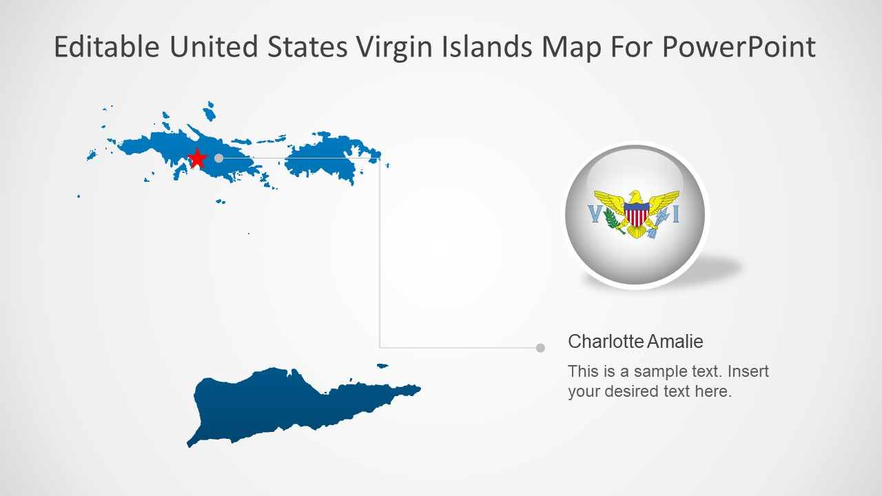 Editable Silhouette Maps of Virgin Islands
