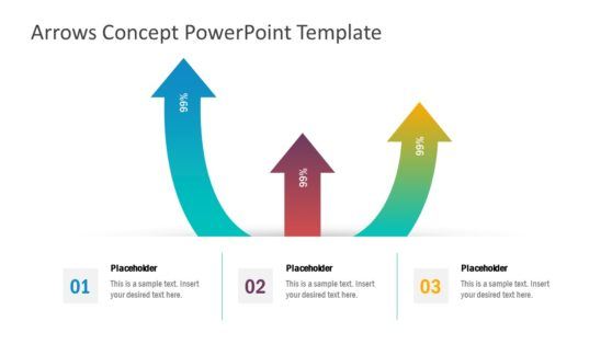 3 Arrow PowerPoint Gradient Diagram