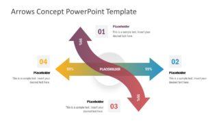 4 Steps Arrow Concept Diagram
