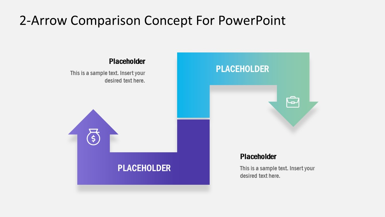 PowerPoint Comparison 2 Arrows