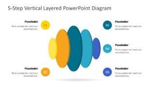 5-Step Vertical Layered Diagram for PowerPoint