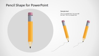 Pencil Vector Illustration for PowerPoint