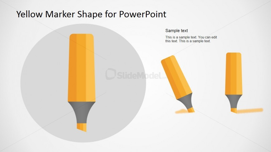 Marker Vector Illustration for PowerPoint