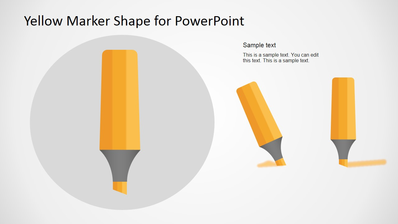 Marker Vector Illustration for PowerPoint