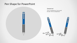 Pen Vector Illustration for PowerPoint