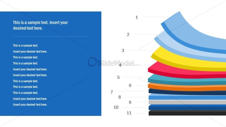 PPT Multi Layer Flat Vector
