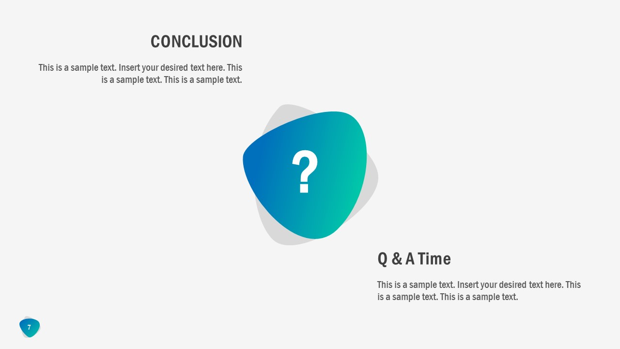 Flat PowerPoint for Conclusion