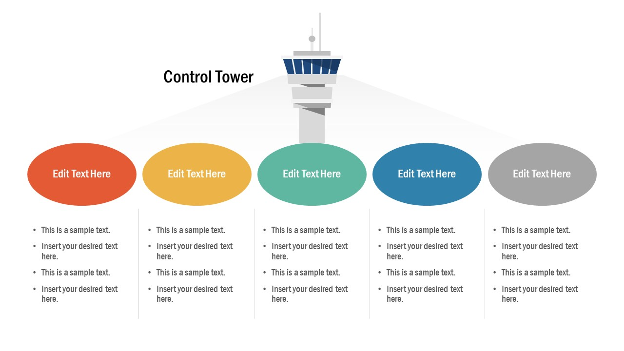 Control Tower Shape PowerPoint