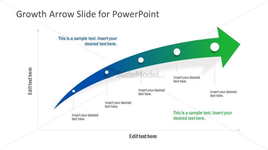 5 Steps Growth Arrow Diagram