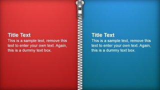 PowerPoint Zipper Shapes Tiles Separator