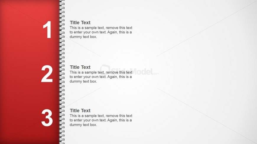 PowerPoint Zipper Shapes Left Side Agenda Design