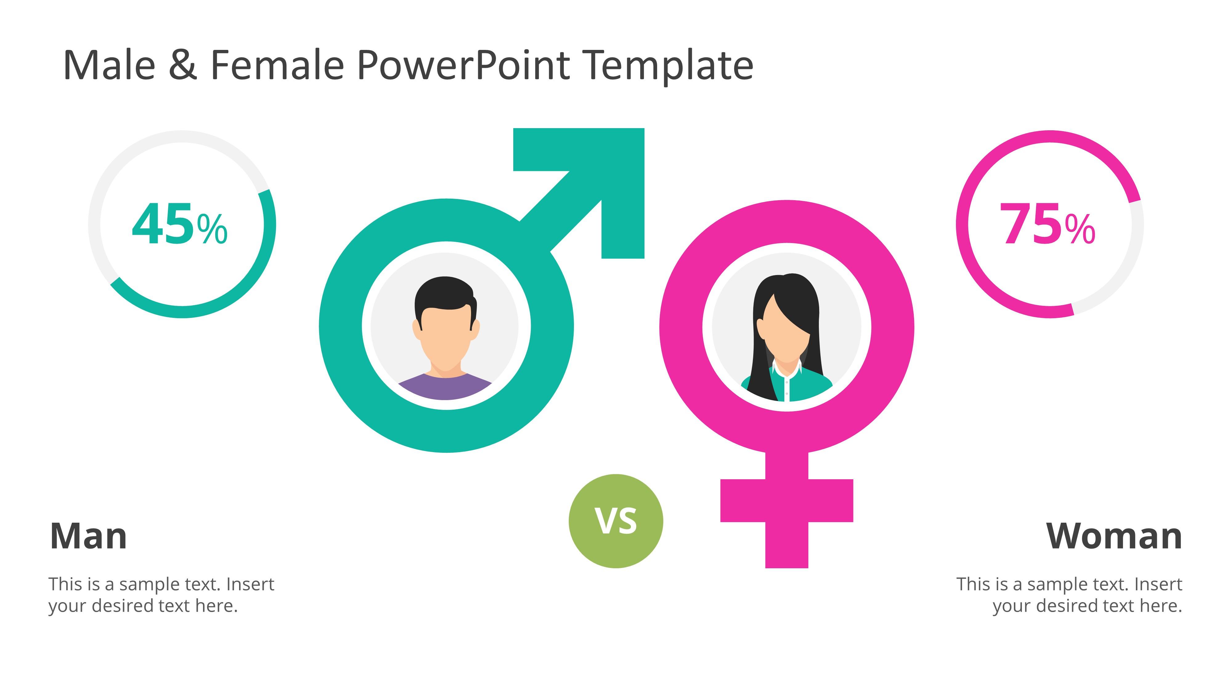 Presentation of Male Female Infographics
