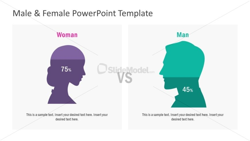 Flat PowerPoint Male Female Diagram