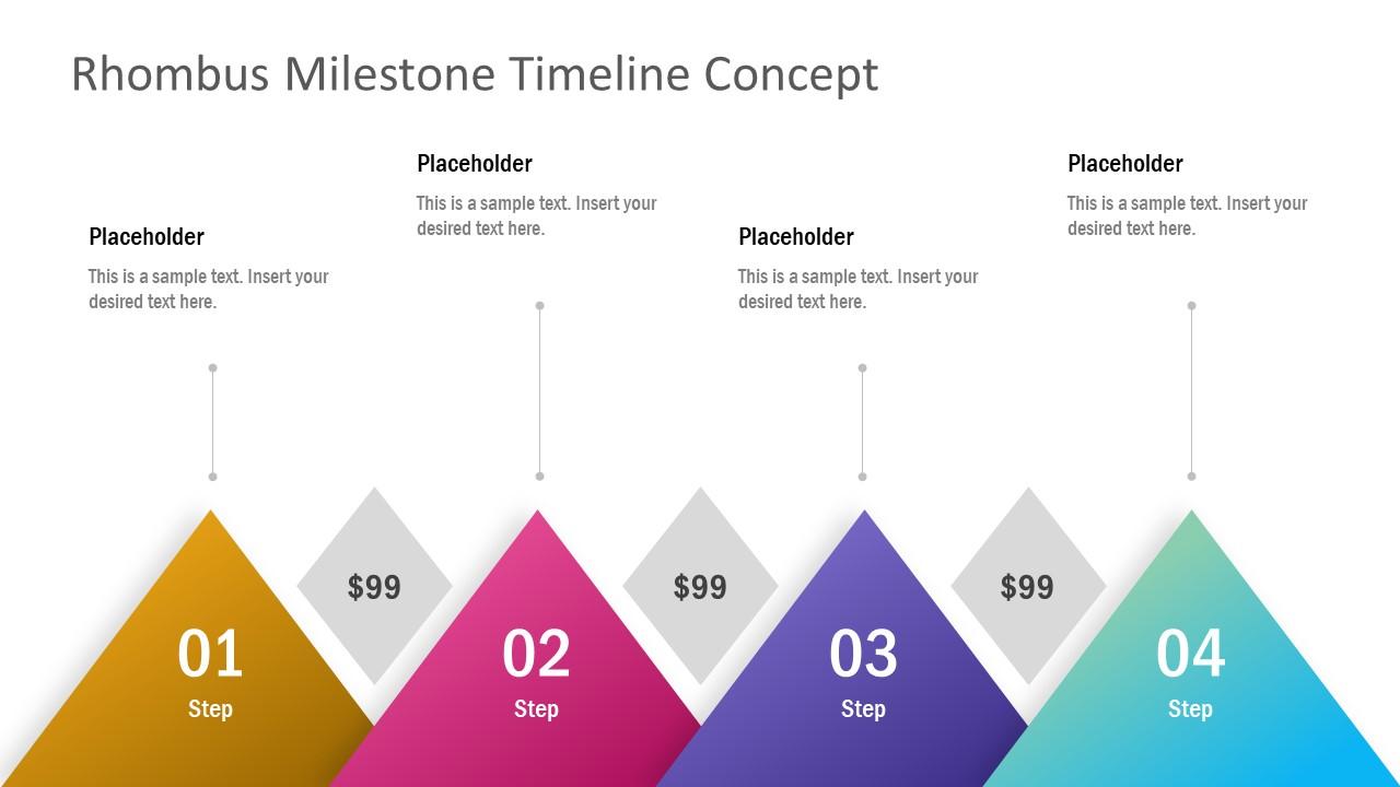 4 Milestones Point PowerPoint