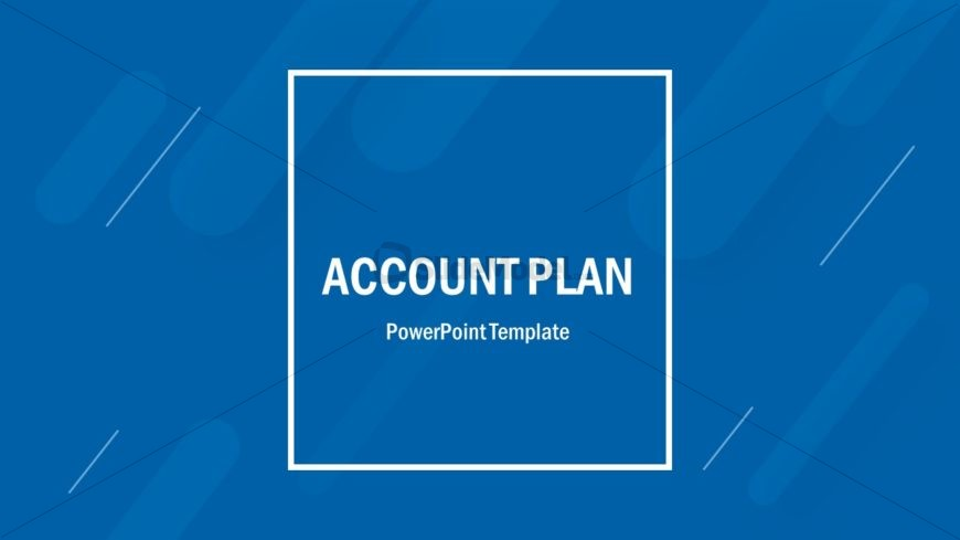 Cover SLide of Account Plan