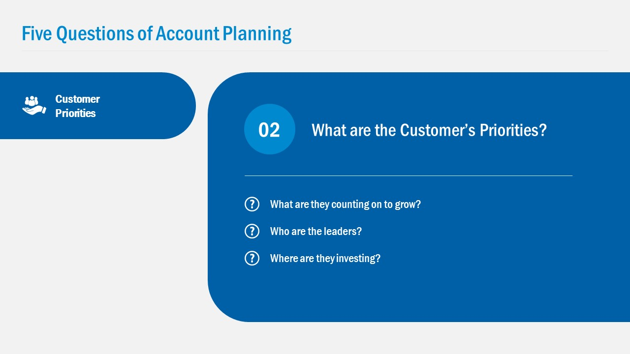 Slide of Customer Potential Account