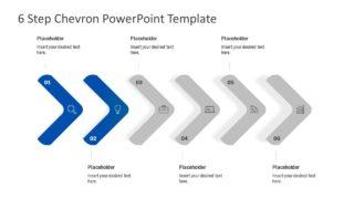 PPT Editable Chevron Diagram