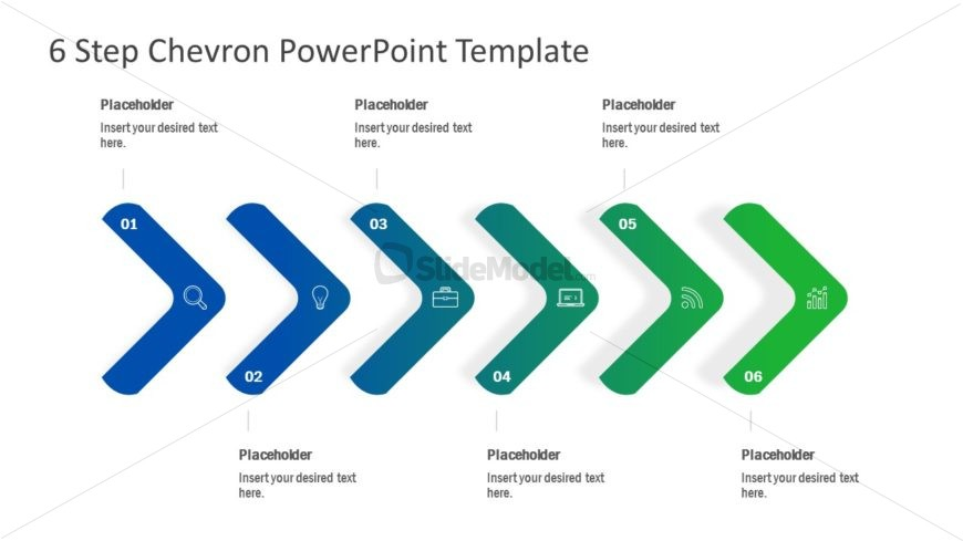 Chevron Shapes PowerPoint Diagram