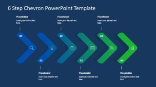 PPT Chevron Arrow Diagram Design