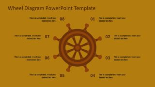 Ship Wheel Diagram Design PPT