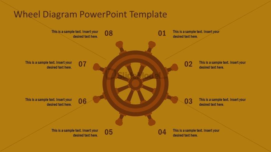 Ship Wheel Diagram Design PPT